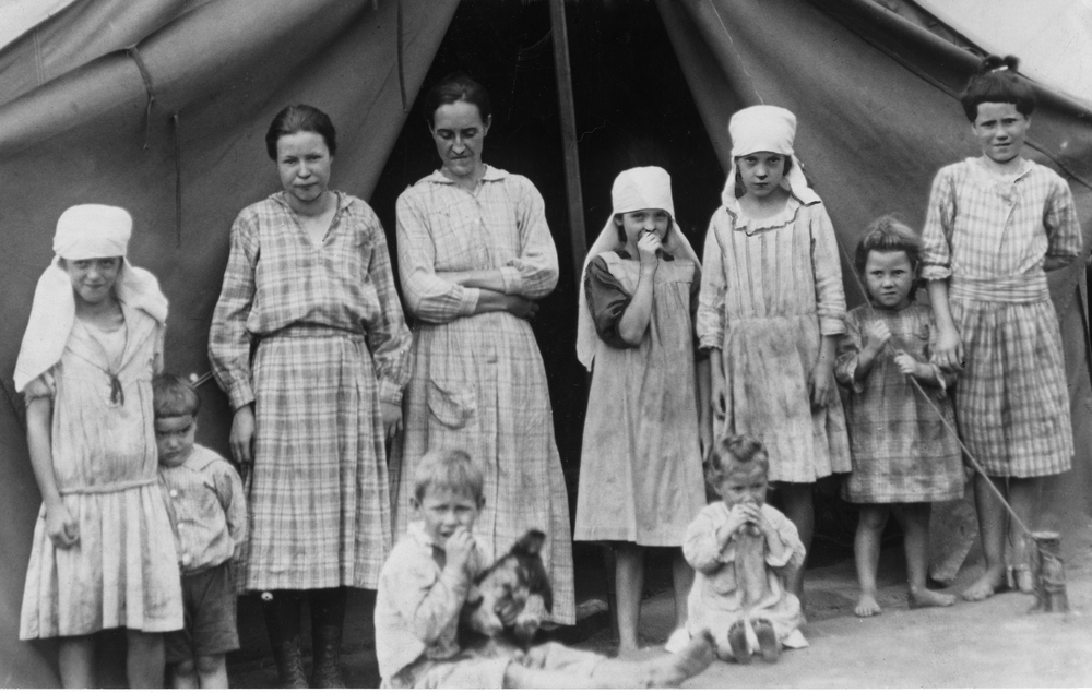 Miners Family in Tent Colony 1920