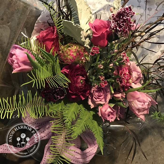snug harbor farm valentine bouquet workshop