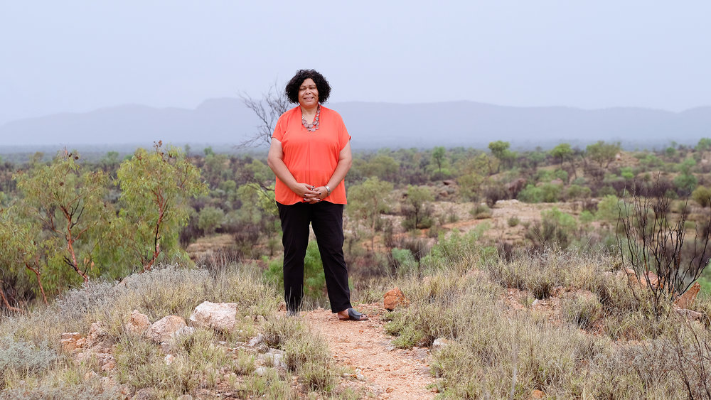 Alice Springs Photographer Hannah Millerick captures Andrea Mason from NPY Women's Council.