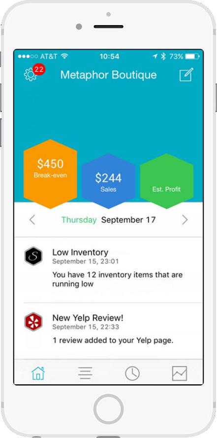 thrive shopventory integration screenshot