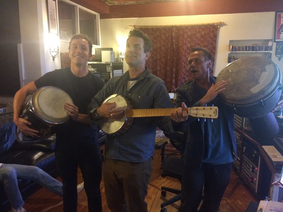 Ben, Mark and Chris Isaak hard at work!