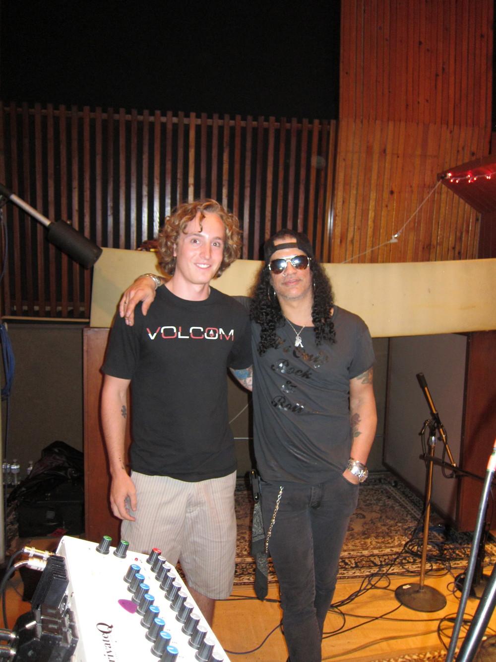 Ben and Slash at Eastwest Studios - LA, CA