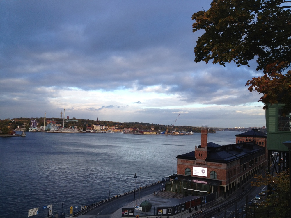 View over Stockholm and the awesome photo museum Fotografiska from Södermalm