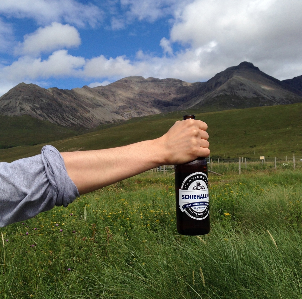 hello getaway, scotland, isle of skye, scottish beer