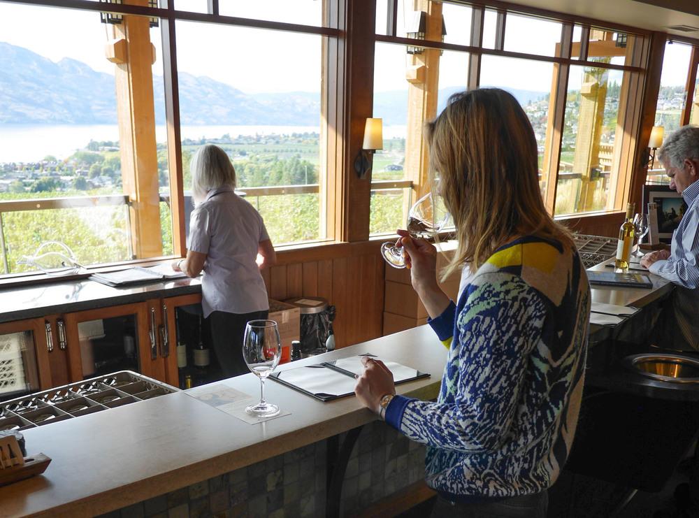 Wine tasting at Quails Gate