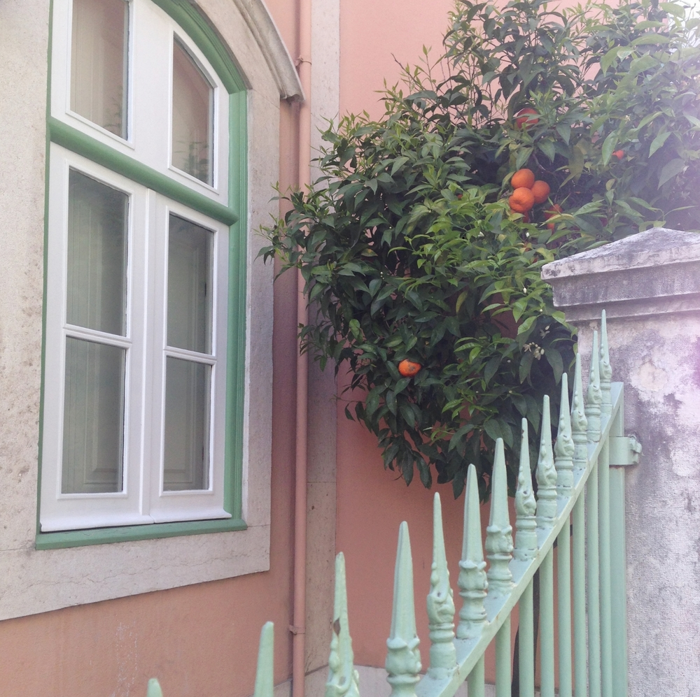 pastel orange hello getaway cityguide Lisbon