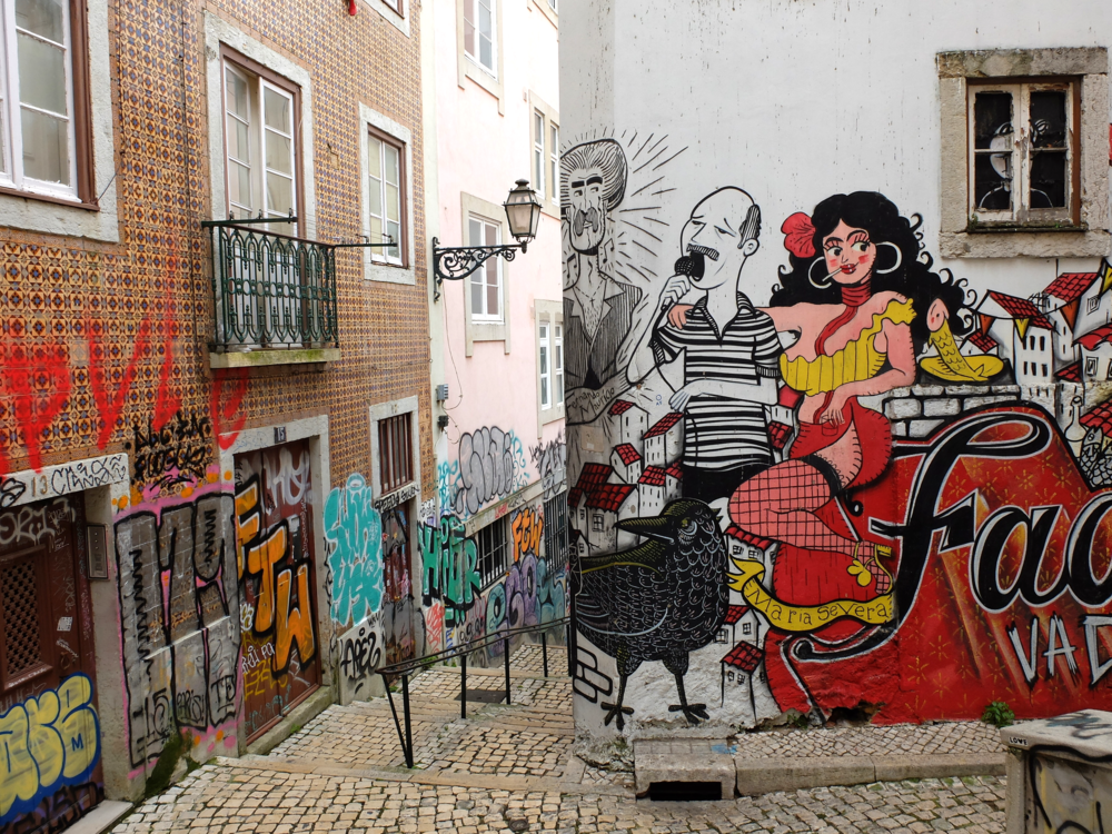 Graffiti Lisbon portugal hellogetaway cityguide