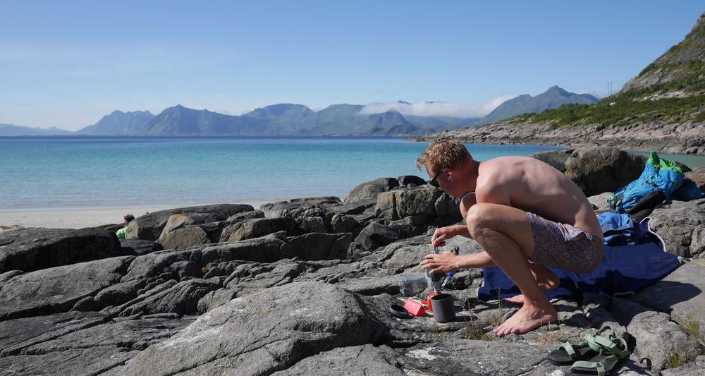 henningsvear lofoten beach road trip