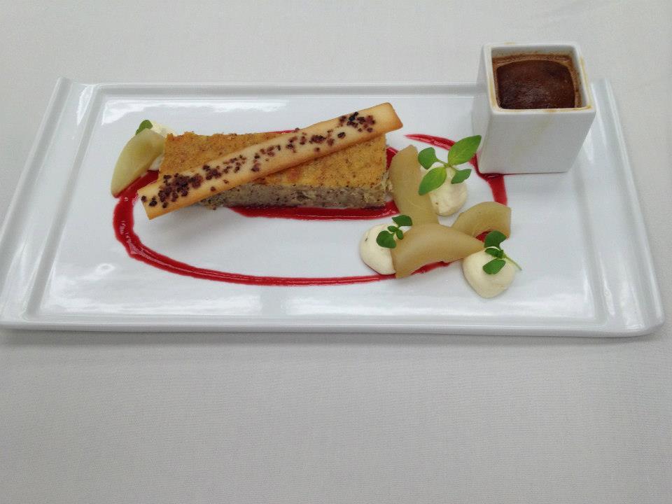 Hazelnut Ricotta Cake & Espresso Granita