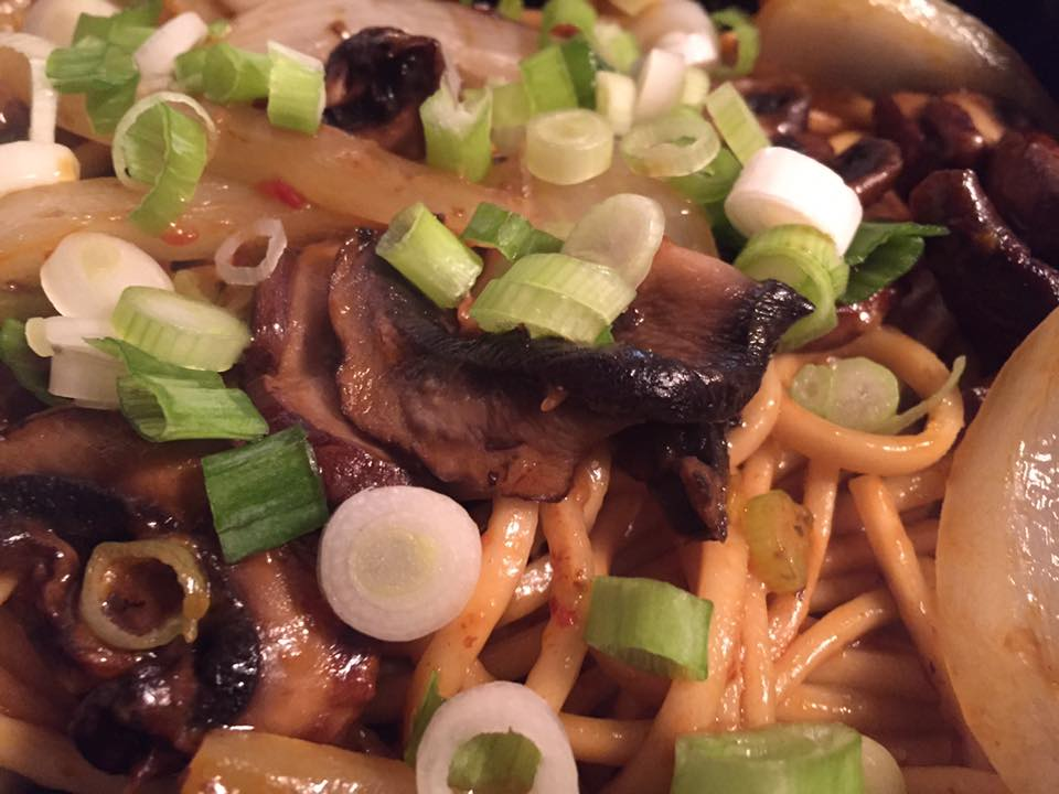 Shiitake Mushrooms & Noodles
