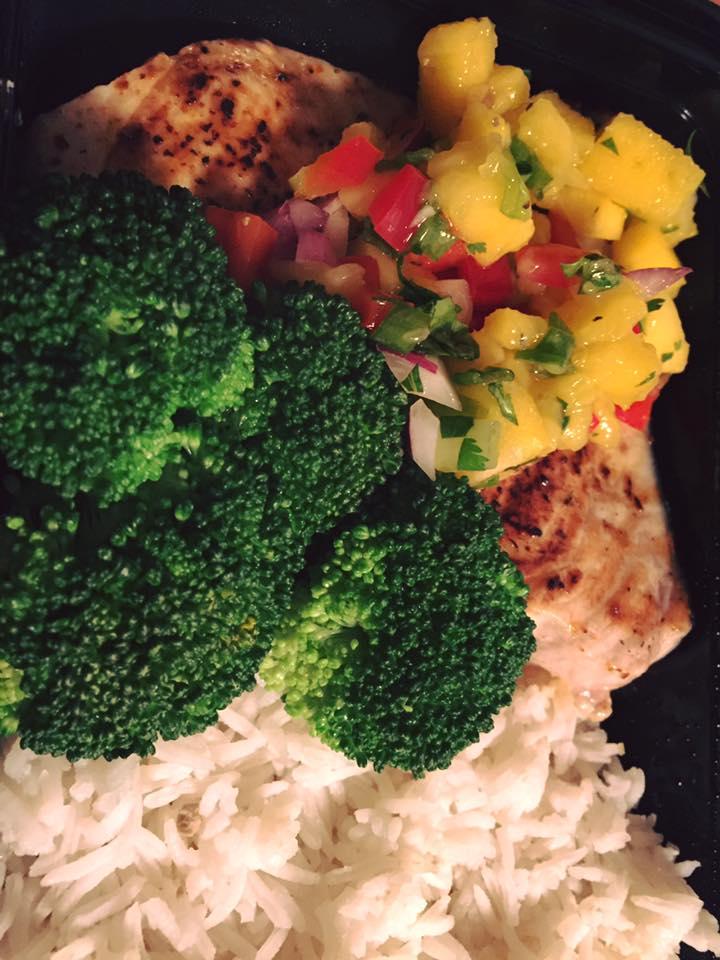 Swordfish & Mango Salsa