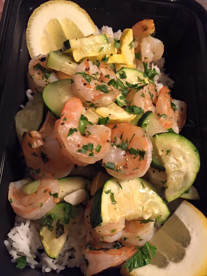 Boiled Shrimp & Roasted Veggies