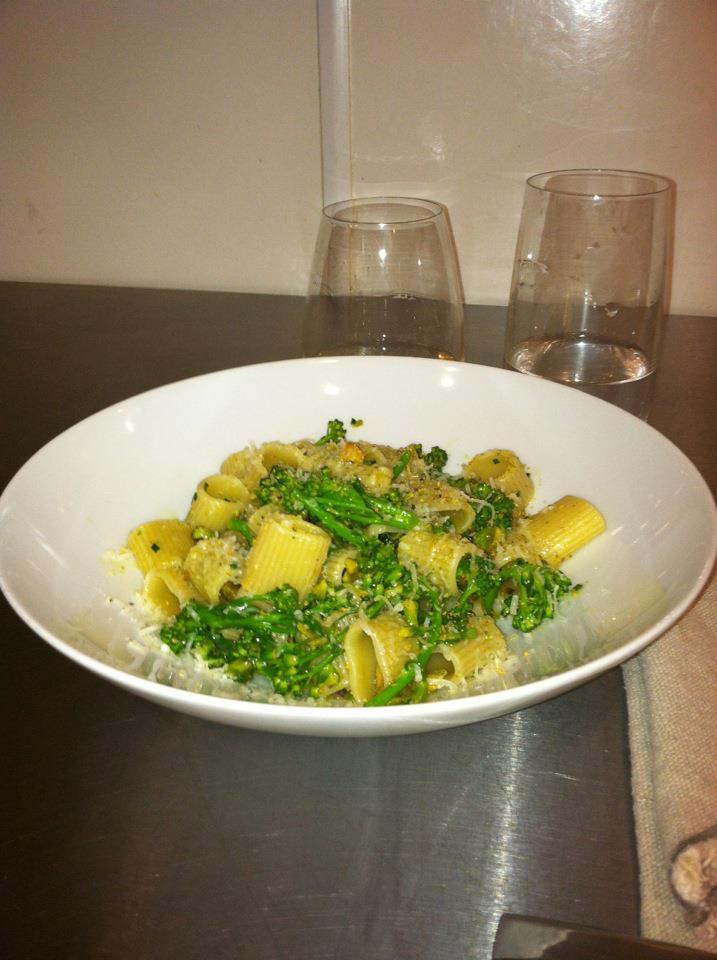 Pasta w/ Broccoli, Pistachio & Salsa Verde