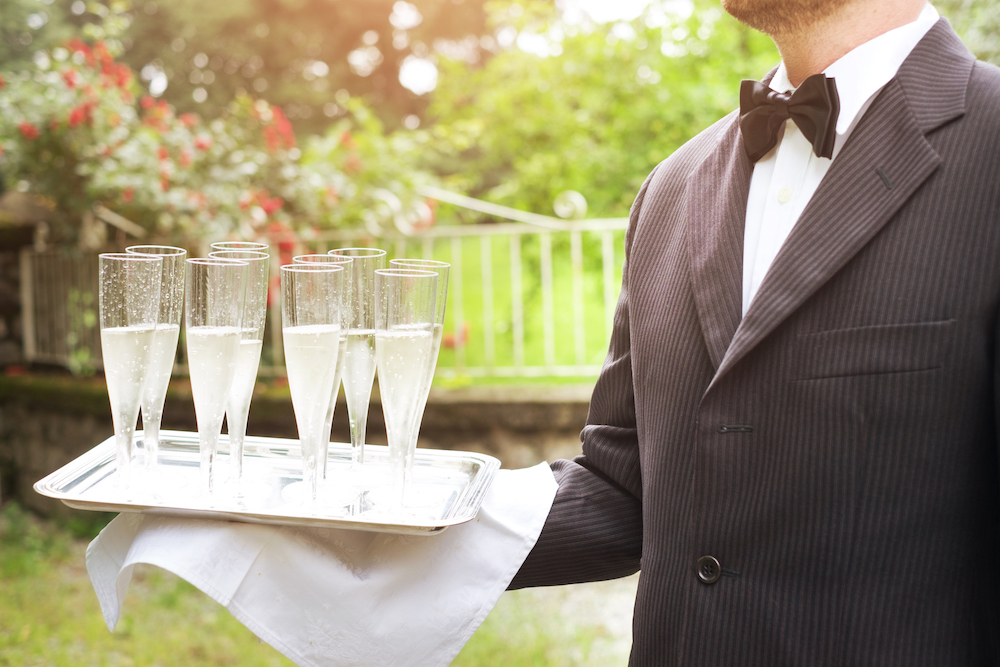 TRAY PASSED BEVERAGES - tray passed wine, champagne & more