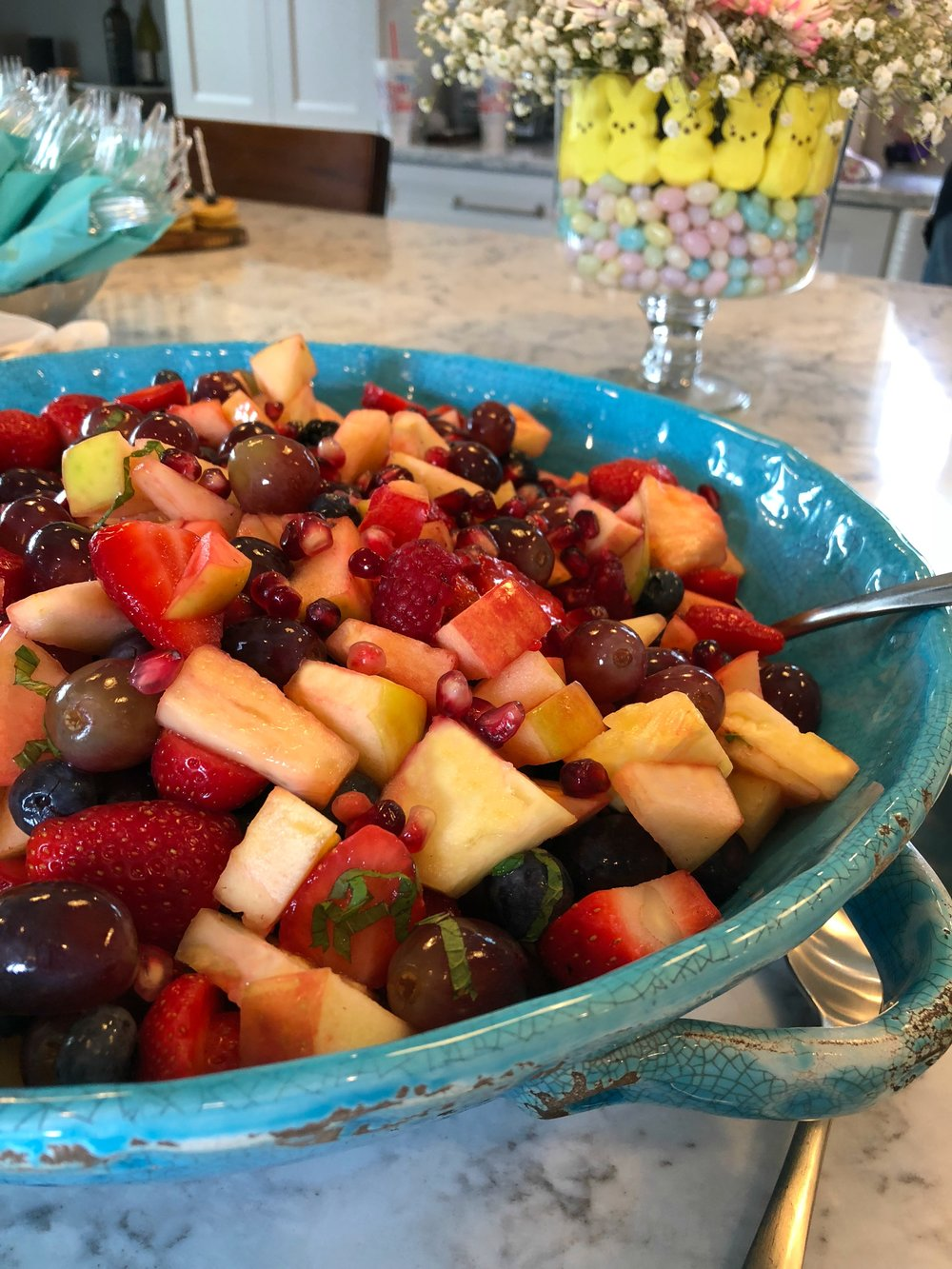 Fruit Salad at Easter Brunch - April 2018