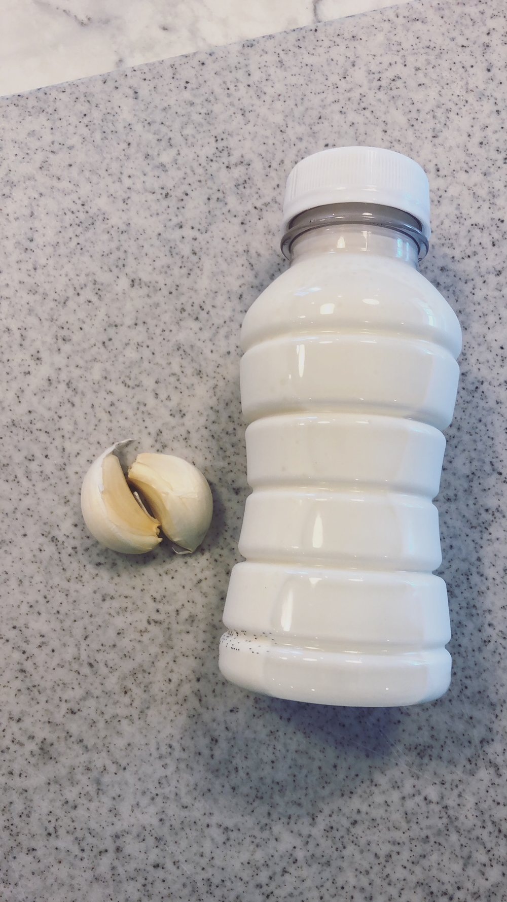Garlic Cloves and Heavy Cream