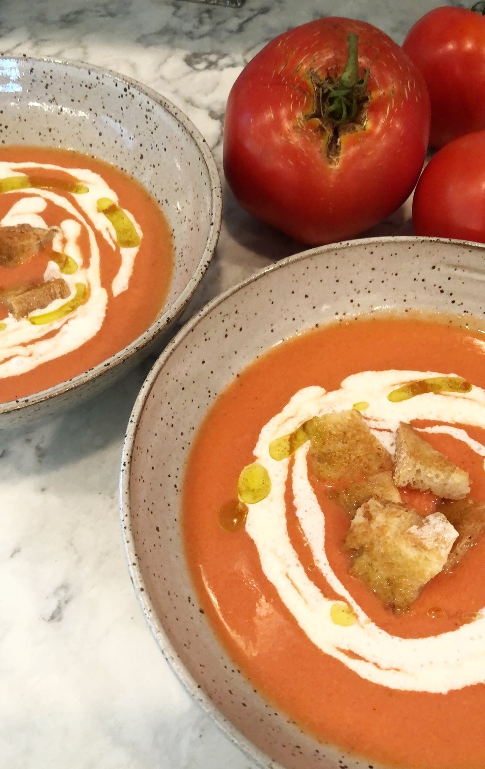 tomato gazpacho desocio in the kitchen