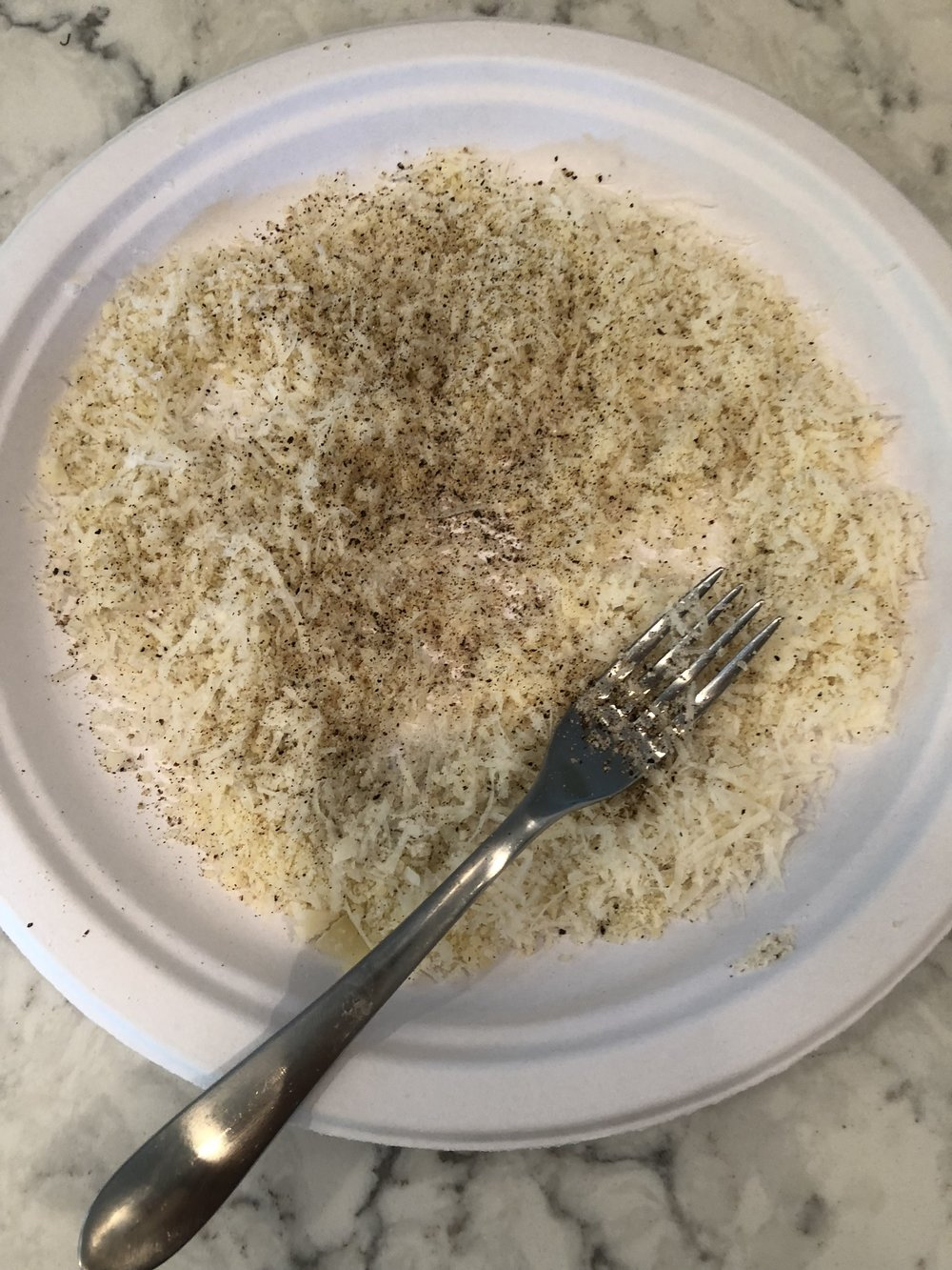 Parm, Cotija cheese, salt and pepper
