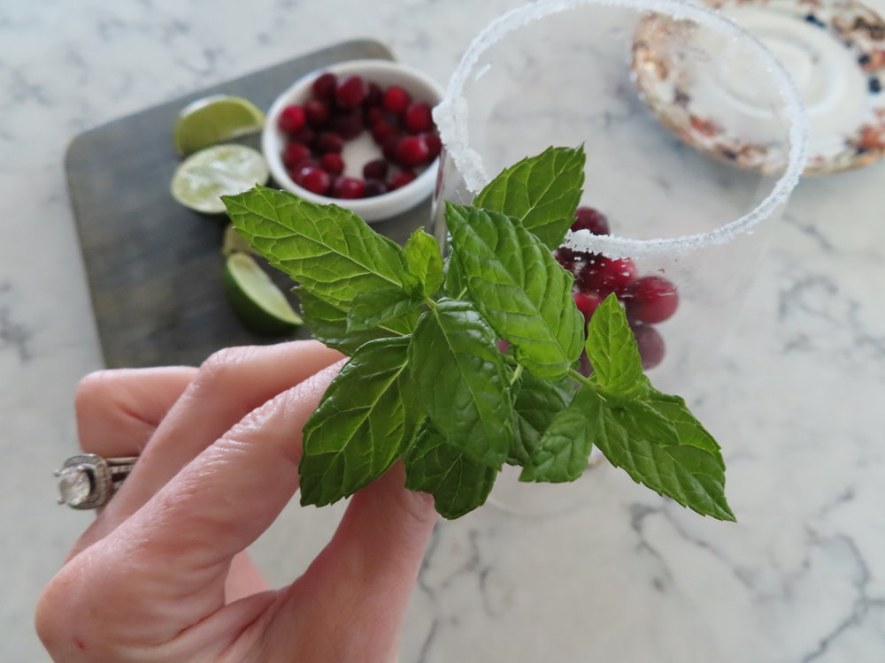 Fresh Mint adds great aromatics and freshness to the drink.