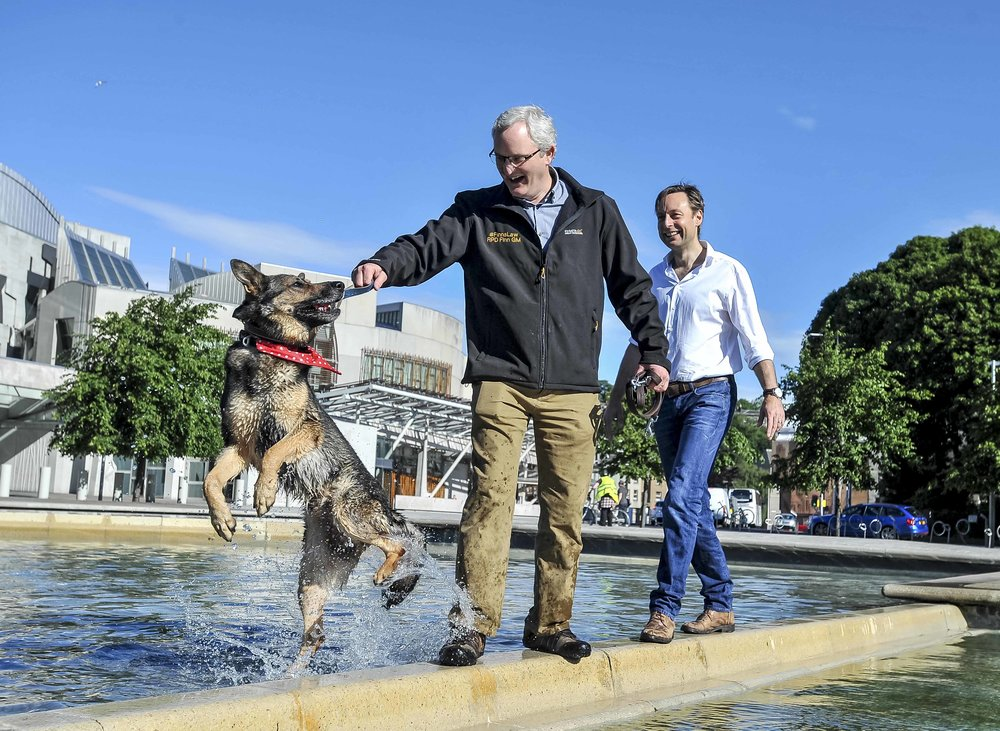 Police dog Finn takes bite at Scottish Parliament E.jpg