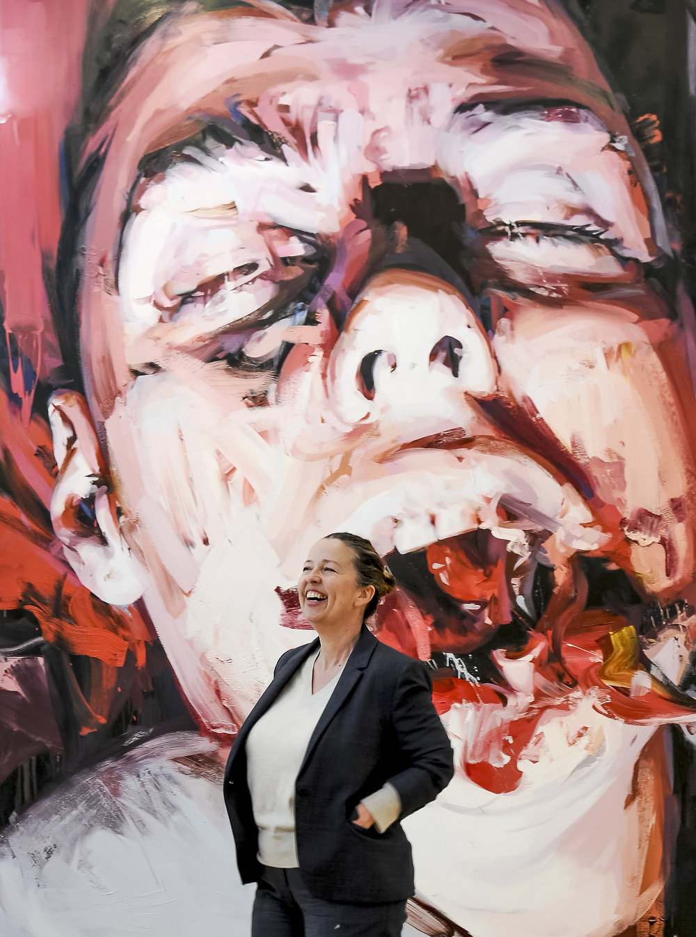 Jenny Saville at the National Gallery.JPG