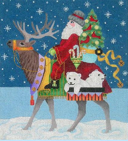 Santa on Elk, $140