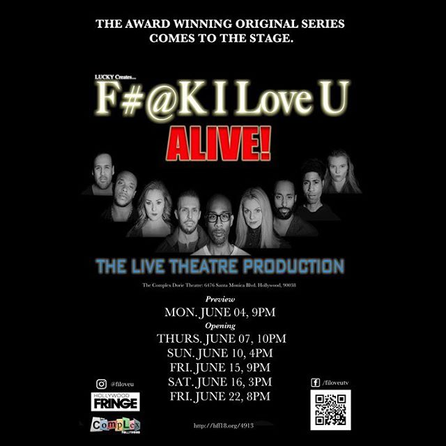 "Use promo code ""luckycreates"" to pay what you want for the preview night!!! *LINK IN BIO!* 🖕👁❤️U - - - #filoveu #fringe #webseries #tickets #onsale #luckymor #luckycreates #production #livetheatre #hff18 #drama #actorslife #hollywood #love #play #inclusive #theatre #relationships #acceptance #dramedy #moving #family #thecomplex #stageplay #playwright #actor #stage"