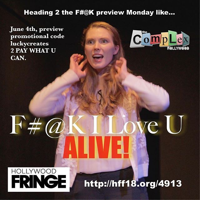 SHE READY! 🖕👁❤️U - - - #filoveu #fringe #webseries #tickets #onsale #luckymor #luckycreates #production #livetheatre #hff18 #drama #actorslife #hollywood #love #play #inclusive #theatre #couples #thesetwo #thewinstons #relationships #acceptance #dramedy #moving #family #thecomplex #stageplay #playwright #actor #stage #production