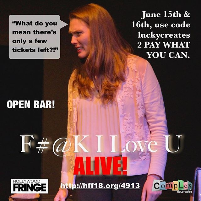 You better get your 🎟 ISSA PAY WAHT YOU CAN WEEKEND!🖕👁❤️U - - - #filoveu #fringe #webseries #tickets #onsale #luckymor #luckycreates #production #livetheatre #hff18 #drama #actorslife #hollywood #love #play #inclusive #theatre #relationships #acceptance #dramedy #moving #family #thecomplex #stageplay #playwright #actor #stage