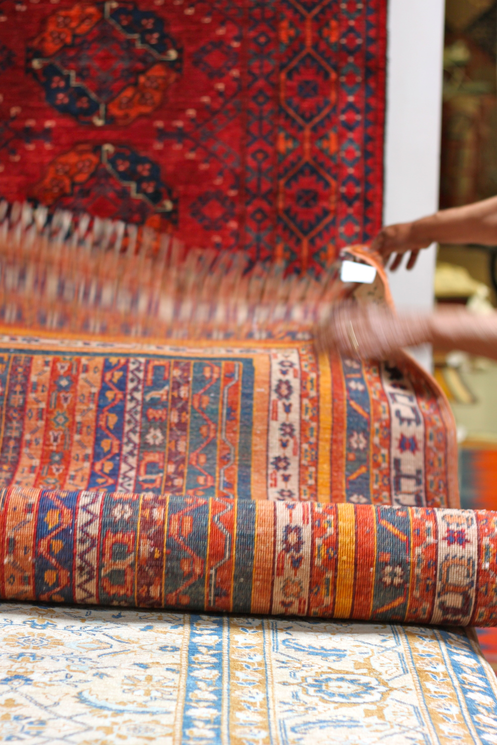 In Search Of Floor Coverings For Our California House, My Husband And I  Dropped In At Yayla Tribal Rugs To Go Through Piles Of Colorfully Patterned  And ...
