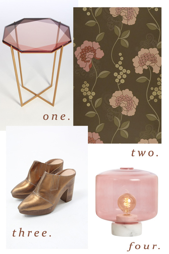 blush and brass