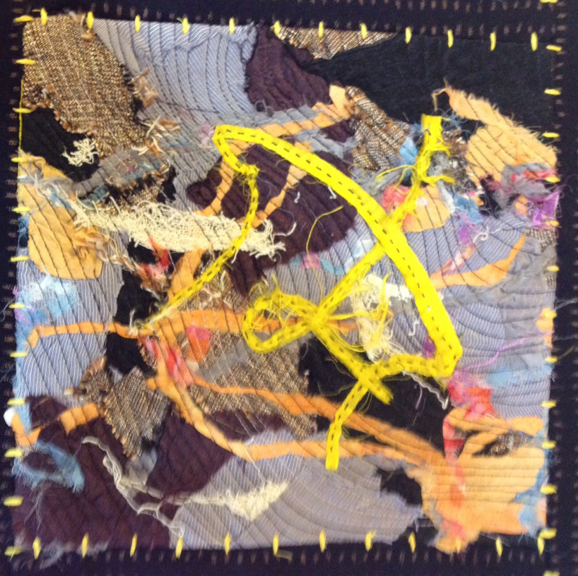 Abstract Fabric Collage