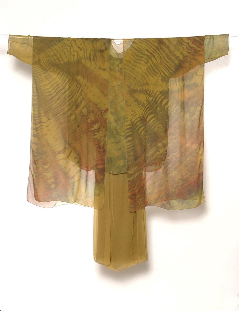 Shibori-Dyed Chiffon
