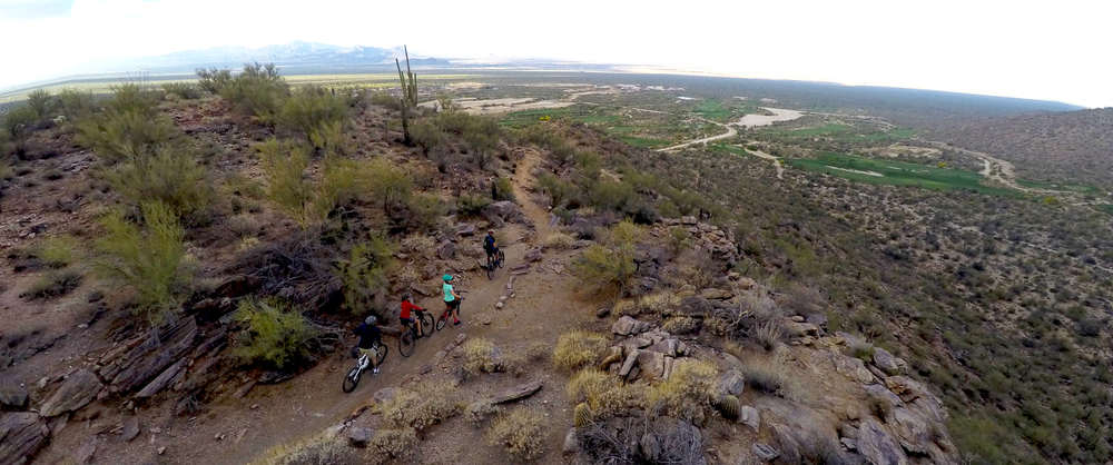 Cyclists on Dove Mountain