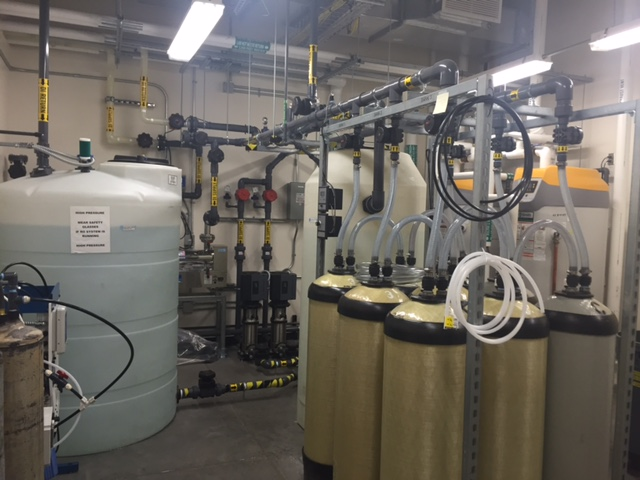 Reverse osmosis water used for testing procedures