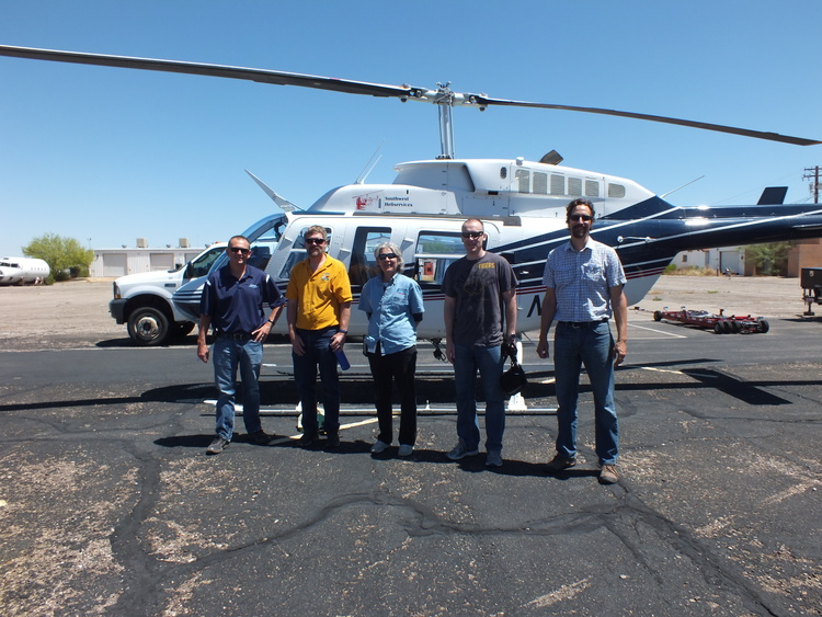 From left to right: John Kmiec, Marana Water Director; Evan Canfield, Pima County Flood Control; Molly Collins, Tucson Water; Tad Bommarito, US Bureau of Reclamation; Brian Powell, Pima County Office of Sustainability & Conservation