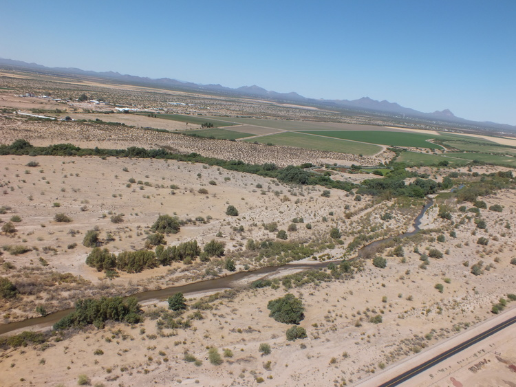 Santa Cruz River flows through North Marana