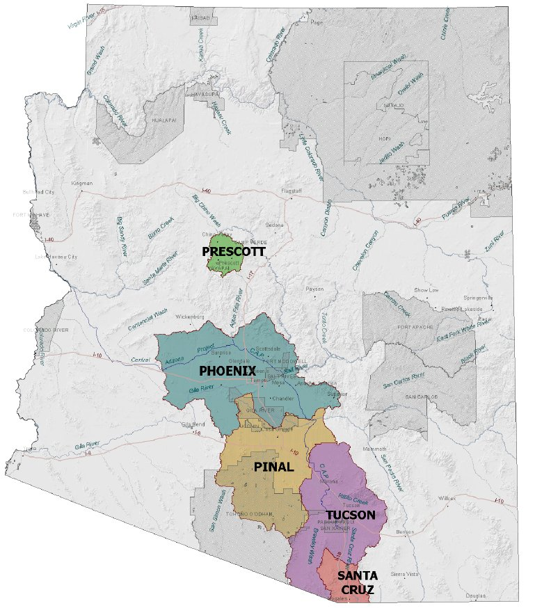 Active Management Areas in Arizona