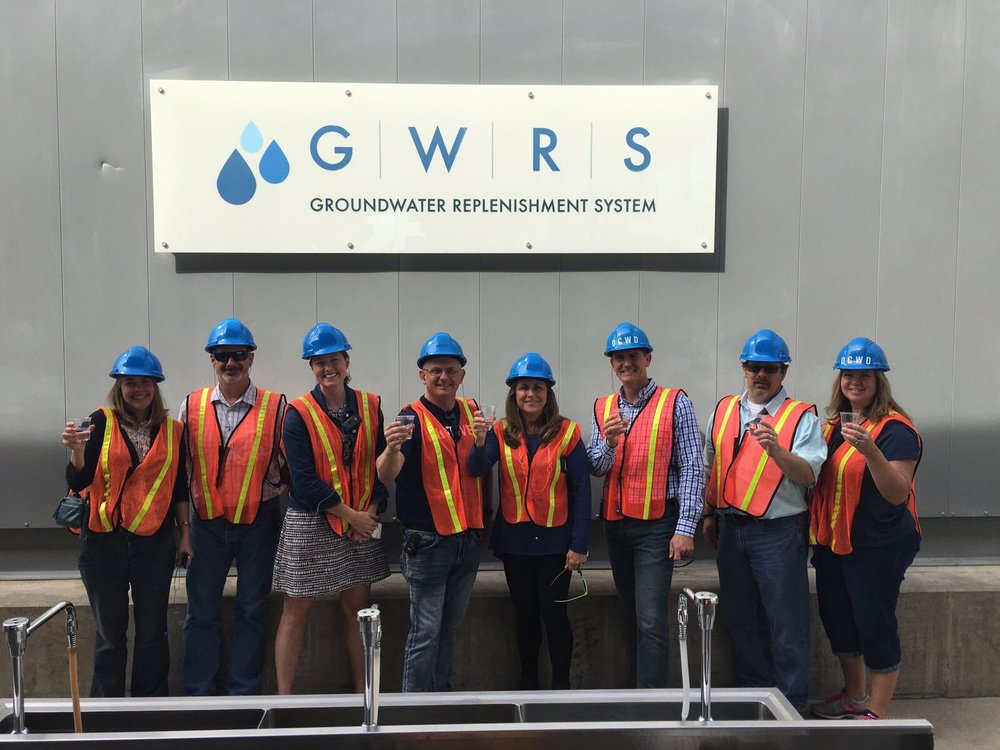 Sampling recycled water in Orange County, CA