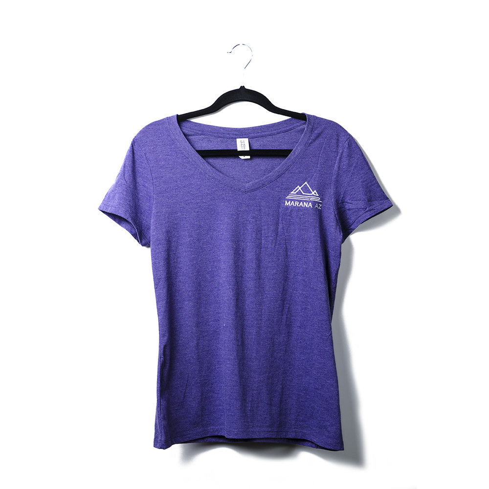 Women's District Made Perfect Tri V-Neck Tee Lightweight and extra soft, this tee has the look of perfection.