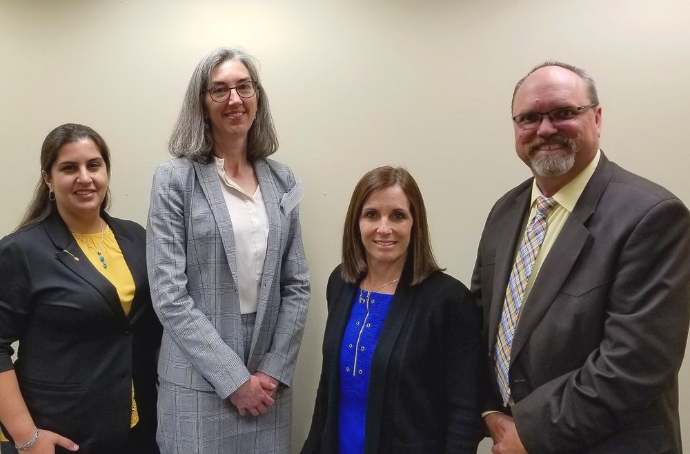 Pictured from left to right: Jeane Jensen (Town of Gilbert), Asia Philbin (Marana Water), Senator McSally, and Brad Hill (City of Flagstaff).