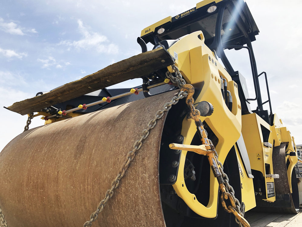 A drum roller is one tool used to keep Marana's streets so smooth.