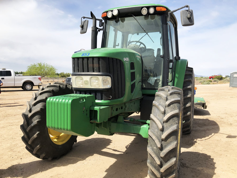 One of the many tractors used by the Town of Marana Public Works Department.