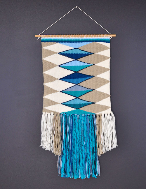 Woven Wall Hangings hand woven wall hanging — one thousand lines