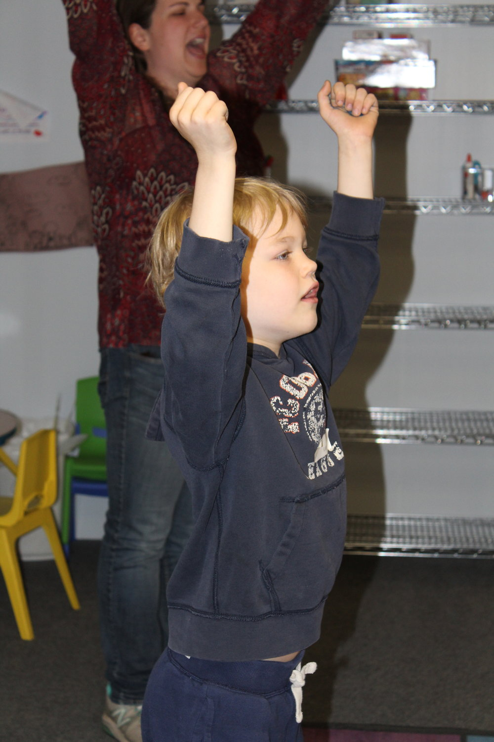Energetic Worship  - This is a vital part of the kids worship experience as we energetically worship (singing songs to God and about God). Many times what's spoken is forgotten, but the songs fill our minds through the week.