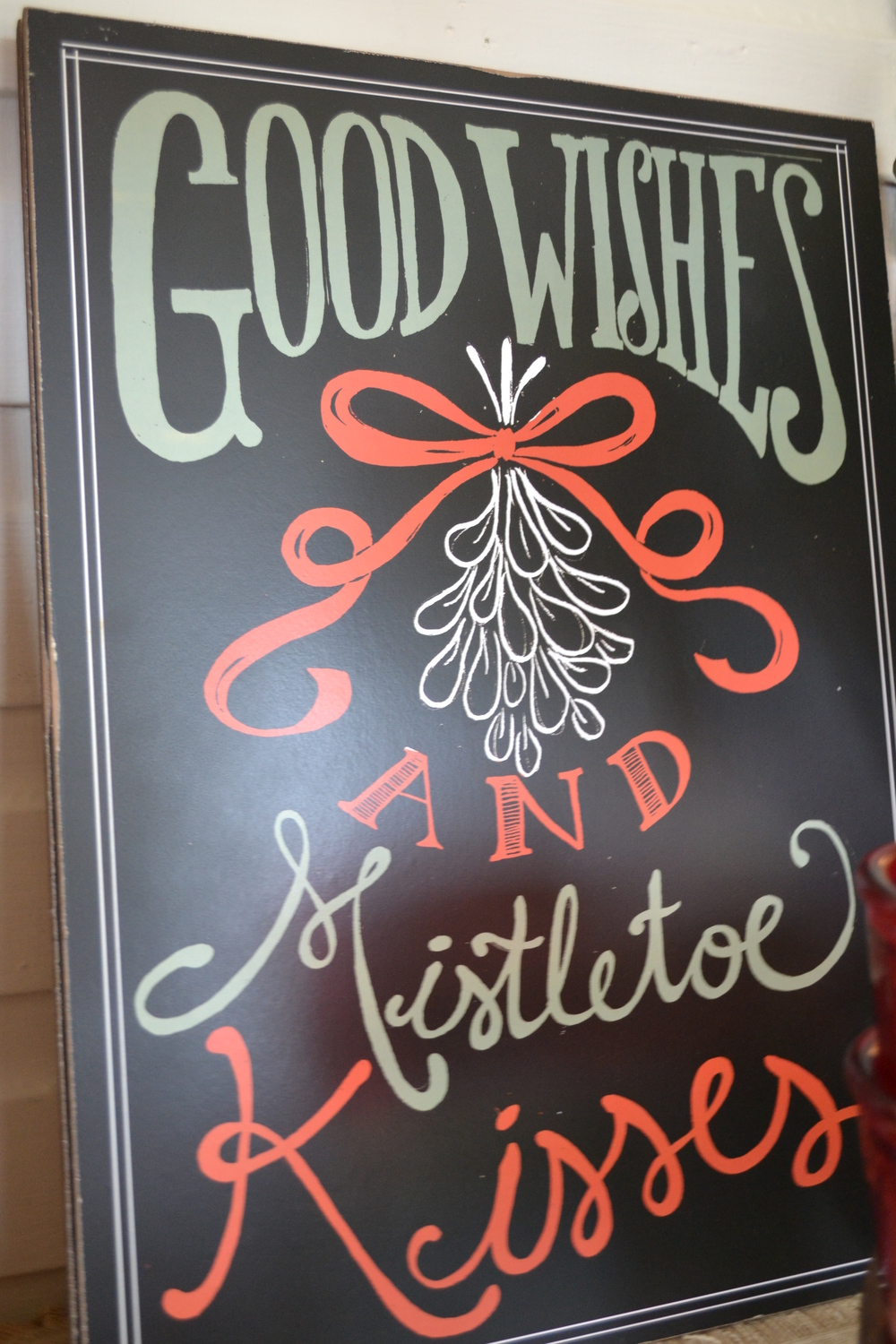 Mistletoe sign