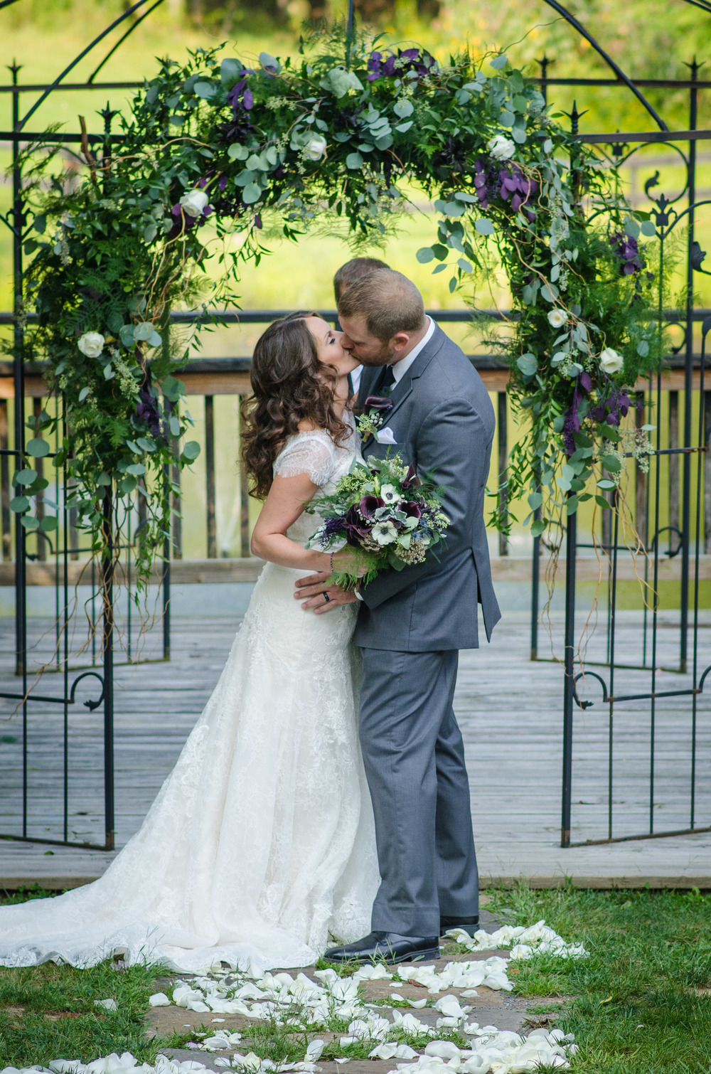 Assorted Purple Florals on Trellis (Photo Credit: Higher Focus Studios)