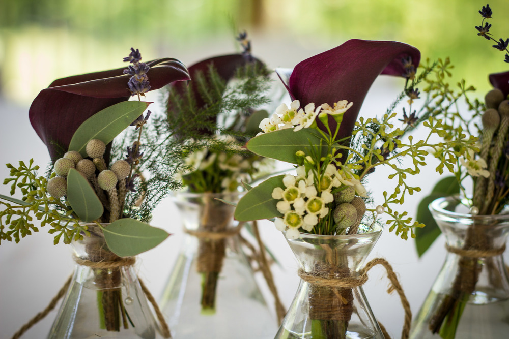 Calla Lily and Lavender Boutonniere (Photo Credit: Higher Focus Studios)