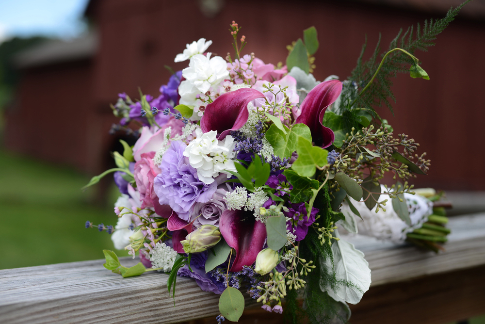 Purple and White Bouquet (Photo Credit: Julia Rendleman Photography)