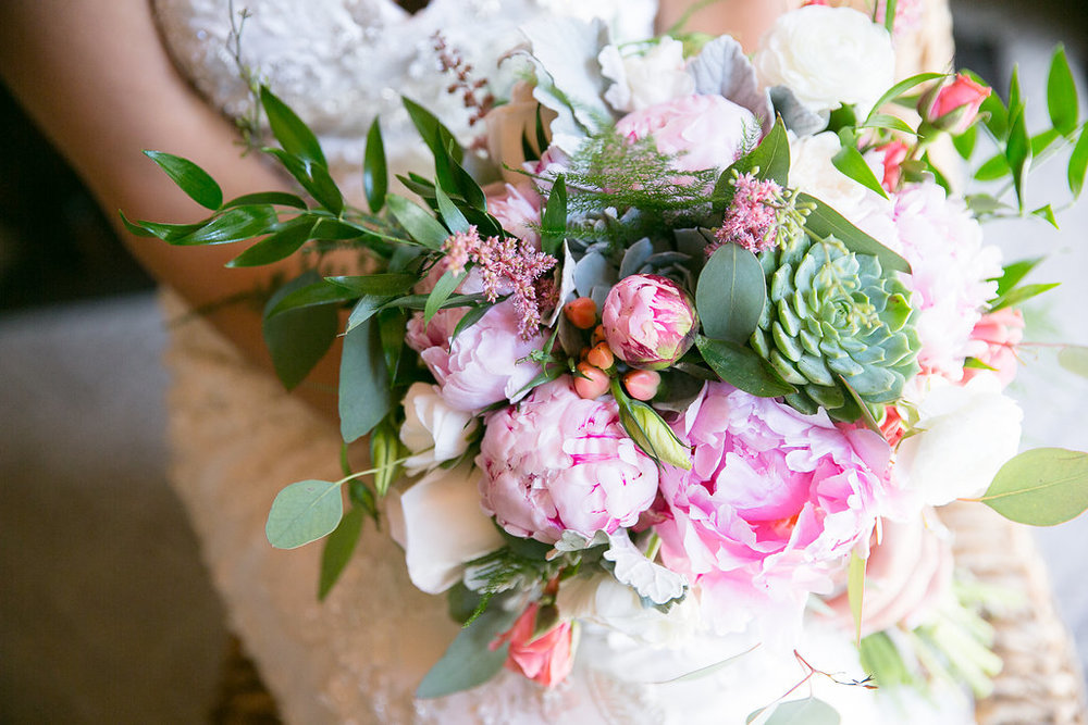 Pink Hydrangea Natural Bouquet (Photo Credit: Karlo Photography)